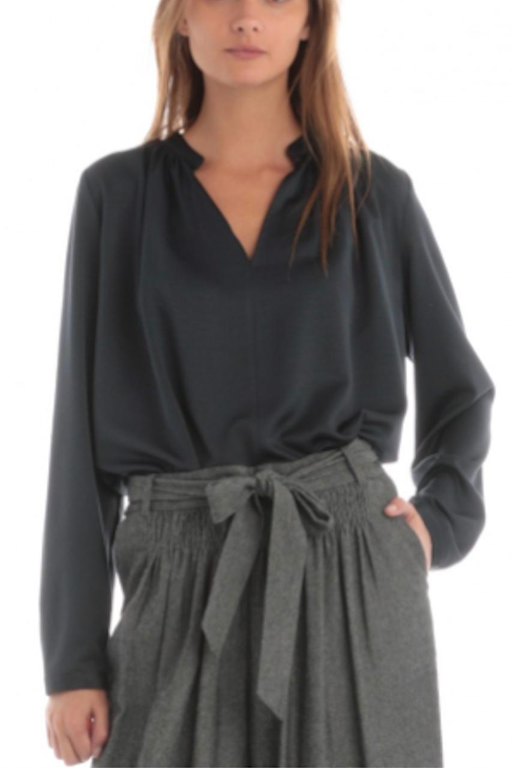 Current Air V-Neck Shirring Blouse - Main Image