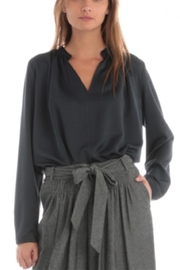 Current Air V-Neck Shirring Blouse - Front cropped