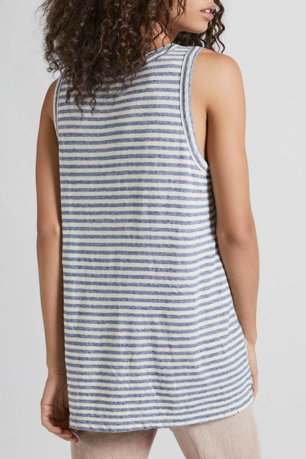 Current Elliott Muscle Tee Anchor Stripe - Front Full Image