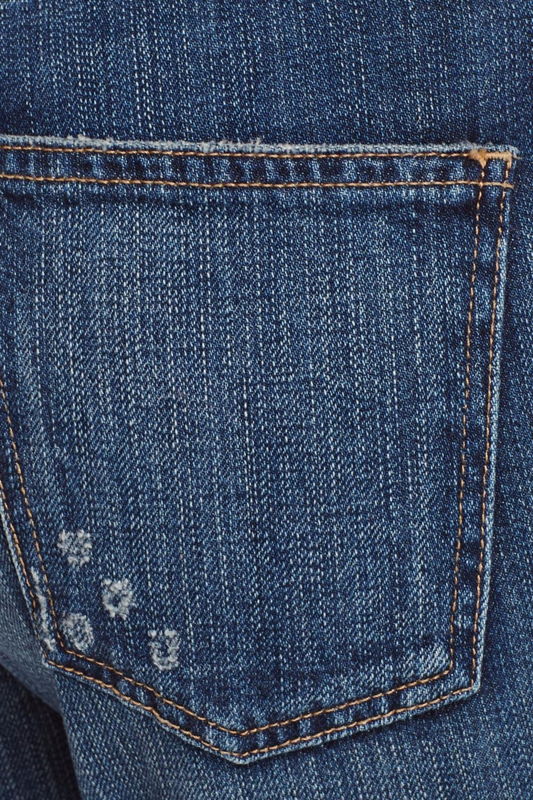 Current Elliott Pearl Destroyed Jeans - Back Cropped Image