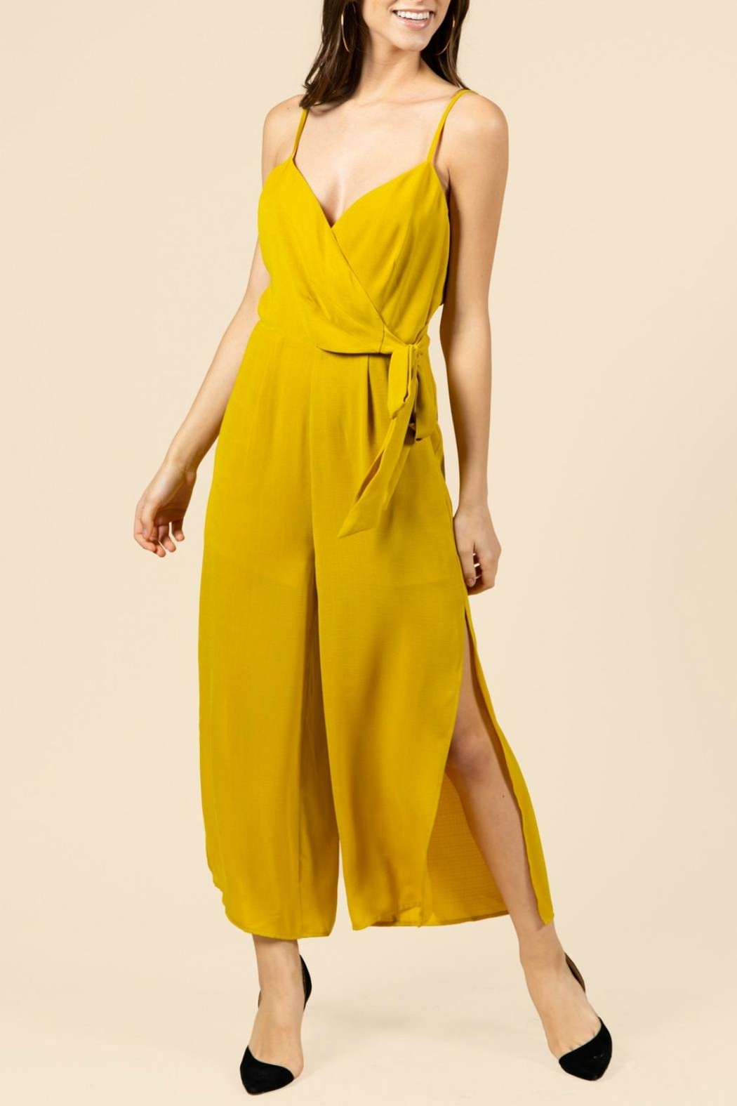 Pretty Little Things Curry Yellow Jumpsuit - Main Image