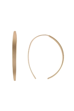 Riah Fashion Curve-Brass Open-Hoop Earrings - Product List Image