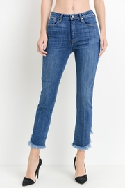just black Curve Frayed Jeans - Product Mini Image