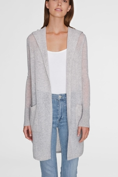 Shoptiques Product: Curved Hooded Cardigan