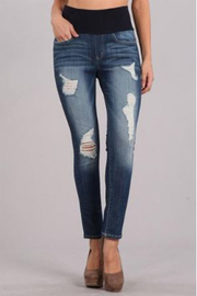 M. Rena Curvify Ripped Jeans With High Waistband - Product Mini Image