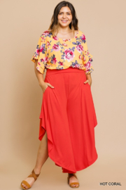umgee  Curvy Coral Pants - Product Mini Image