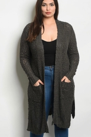 L Love Curvy Gray Cardigan - Product Mini Image