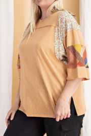 easel  Curvy Patchwork Tee - Product Mini Image