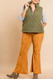 Umgee  Curvy Quilted Vest - Product Mini Image