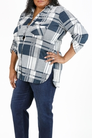 Curvy Fashion USA Plus-Size Plaid Shirt - Back cropped
