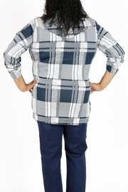 Curvy Fashion USA Plus-Size Plaid Shirt - Front full body