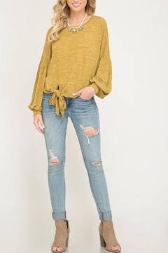 She + Sky Front Knot Top - Product List Image