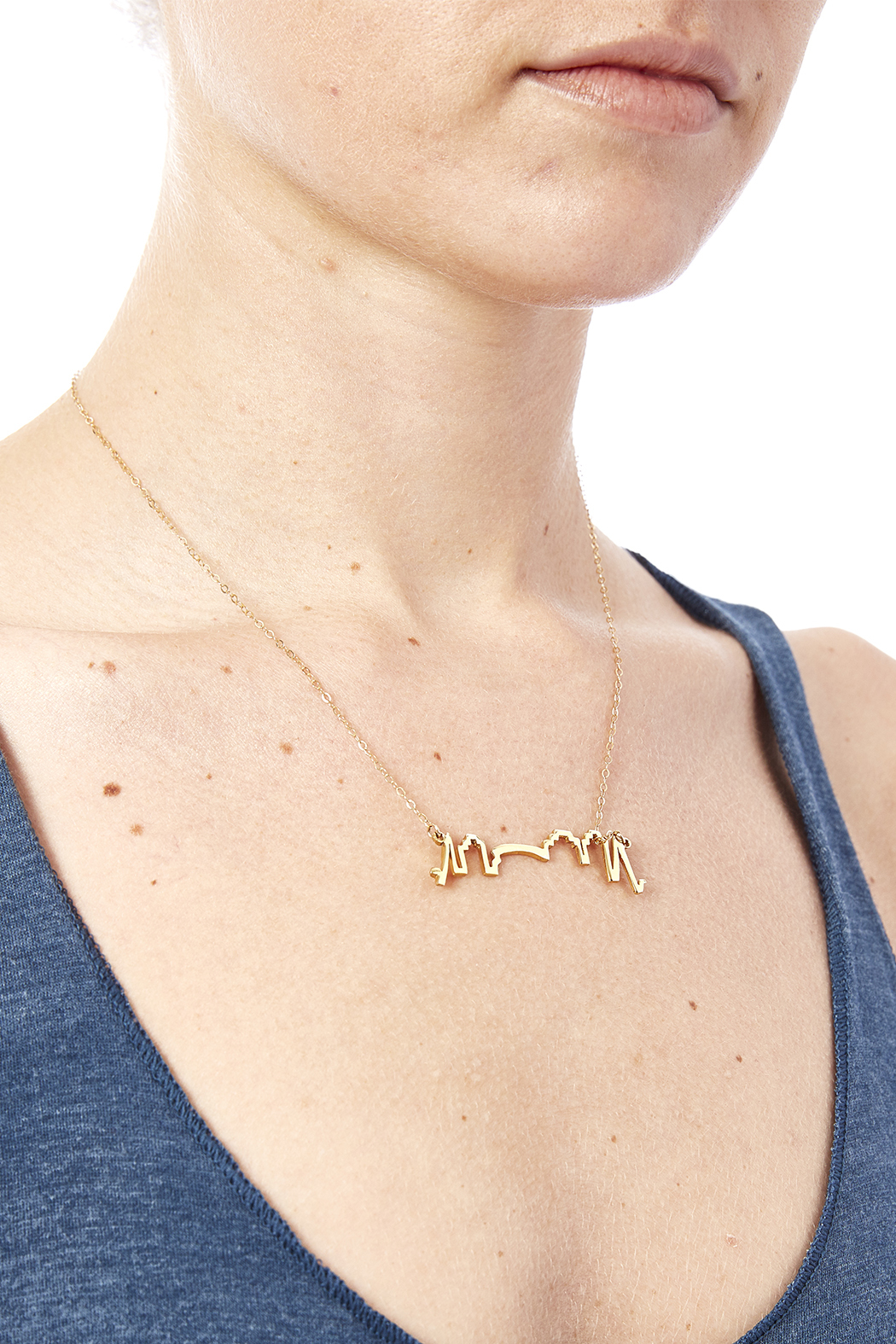 Sarah Ott Gold Skyline Necklace - Back Cropped Image
