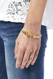 Sarah Ott Gold Tiger Love Bangle - Back cropped