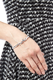 Sarah Ott Silver Nola Love Bangle - Back cropped
