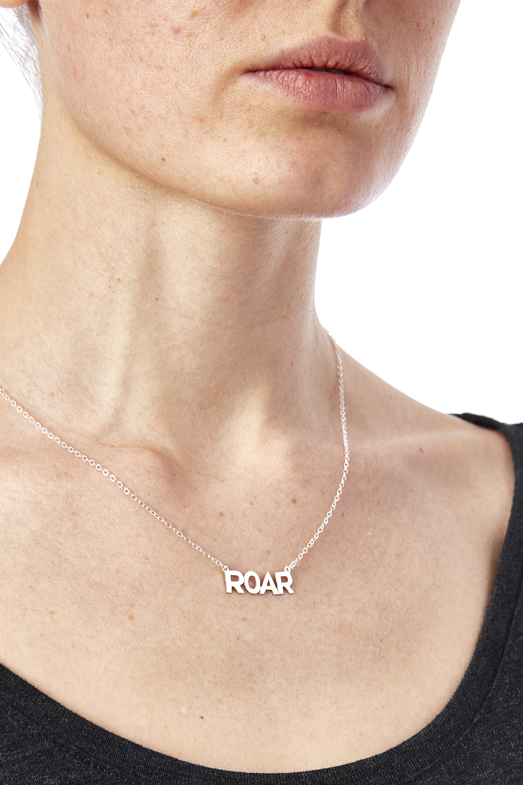 Sarah Ott Silver Roar Necklace - Back Cropped Image