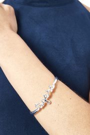 Sarah Ott Silver Tiger Love Bangle - Back cropped