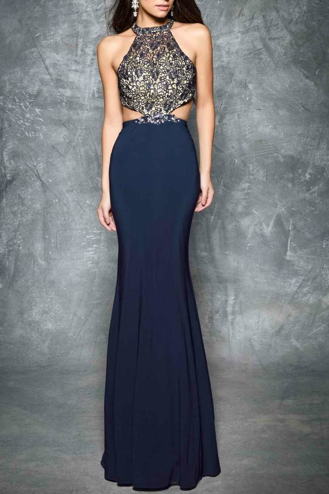Nina Canacci Cut Away Gown - Front Cropped Image
