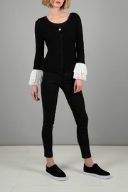 Molly Bracken Cut Lace Cardigan - Product Mini Image