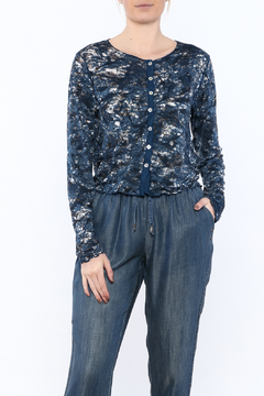 Cut Loose Navy Button Down Cardigan - Product List Image