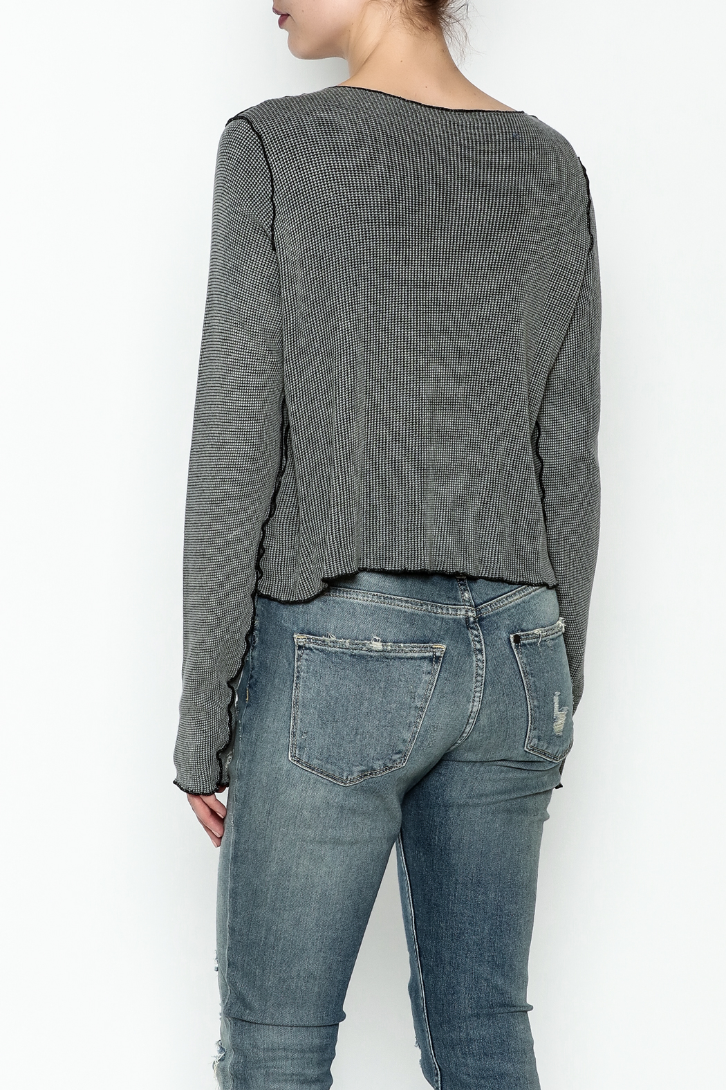 Cut Loose Pullover Top - Back Cropped Image