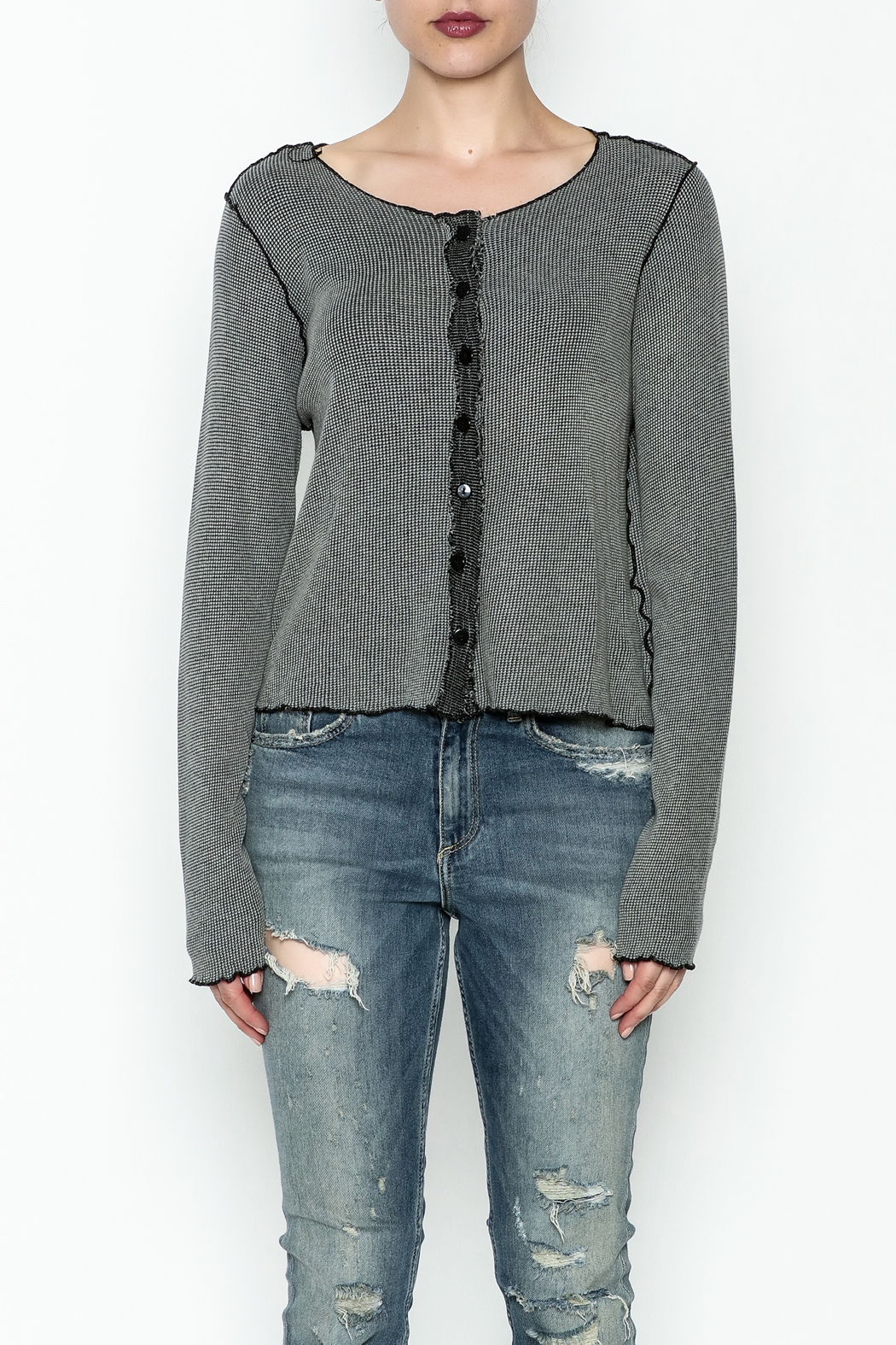 Cut Loose Pullover Top - Front Full Image