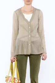 Cut Loose Sheer Beige Jacket - Side cropped