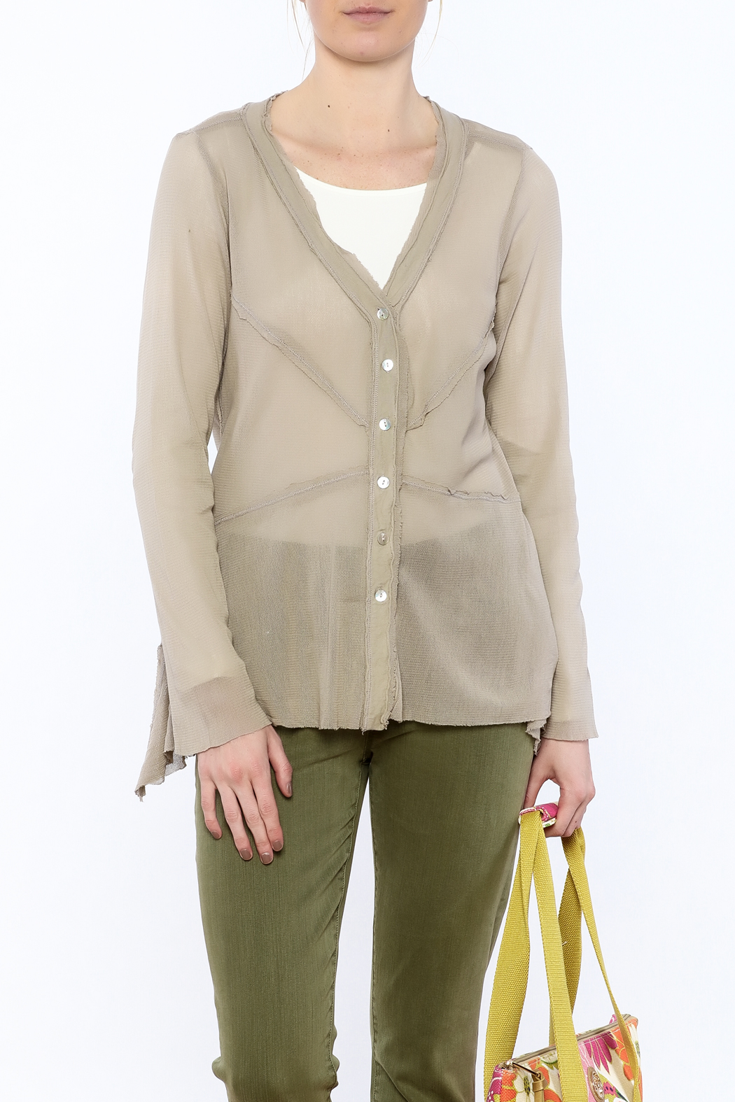 Cut Loose Sheer Beige Jacket - Main Image