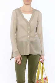 Cut Loose Sheer Beige Jacket - Front cropped
