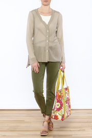 Cut Loose Sheer Beige Jacket - Front full body