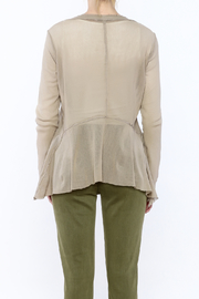 Cut Loose Sheer Beige Jacket - Back cropped