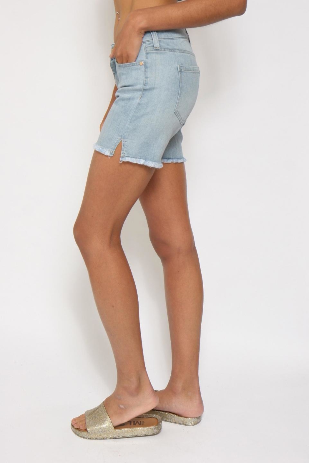 Liverpool Jean Company Cut-Off Jean Shorts - Front Full Image