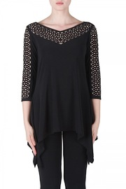 Shoptiques Cut Out Black Tunic