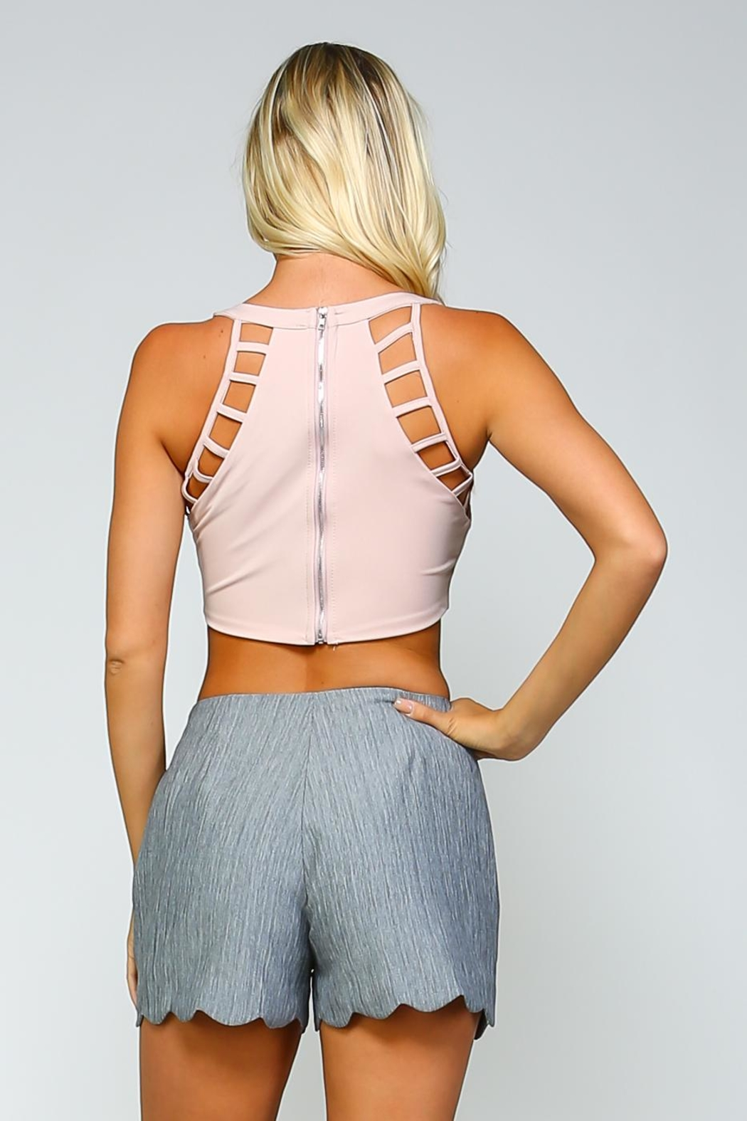 Racine Cut-Out Crop Top - Back Cropped Image