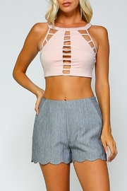 Racine Cut-Out Crop Top - Product Mini Image