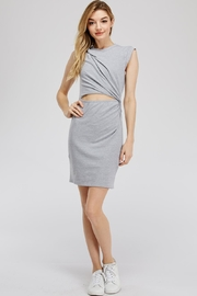 blue blush Cut Out Dress - Product Mini Image