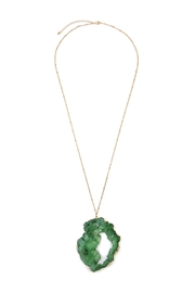 Riah Fashion Cut-Out Druzy Stone-Necklace - Product Mini Image