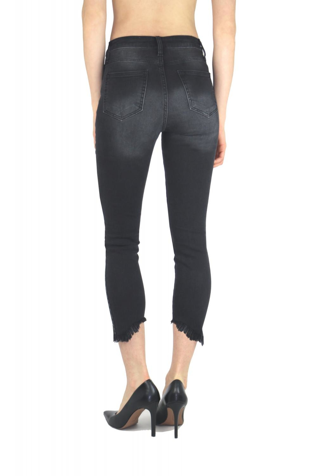 Tractr Blu Cut-Out Hem Skinny - Side Cropped Image