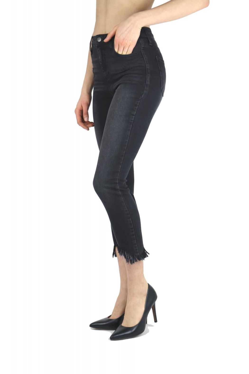Tractr Blu Cut-Out Hem Skinny - Front Full Image