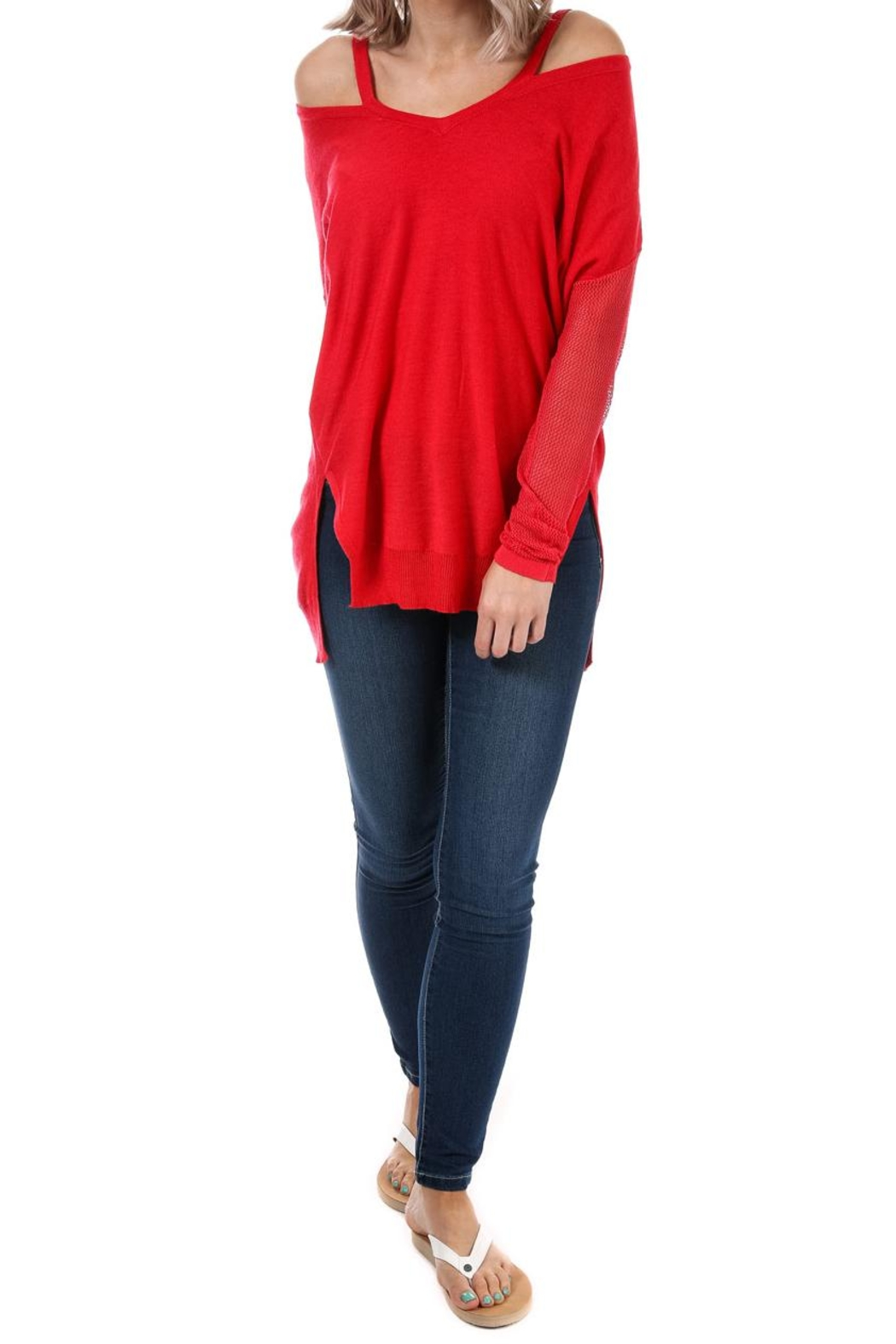 Glamorous Cut Out Jumper - Main Image