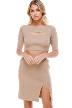 ACOA Cut Out Knit Skirt - Product List Image