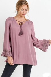 The Dressing Room Cut-Out Lace-Trim Top - Product Mini Image