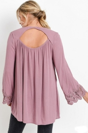 The Dressing Room Cut-Out Lace-Trim Top - Front full body