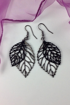 Shoptiques Product: Cut-Out Leaf Earrings