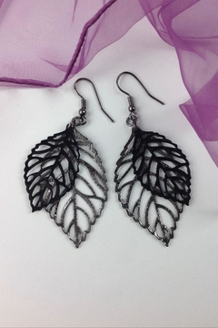 GHome2 Cut-Out Leaf Earrings - Alternate List Image