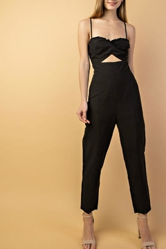 Le Lis Cut-Out Linen Jumpsuit - Product List Image