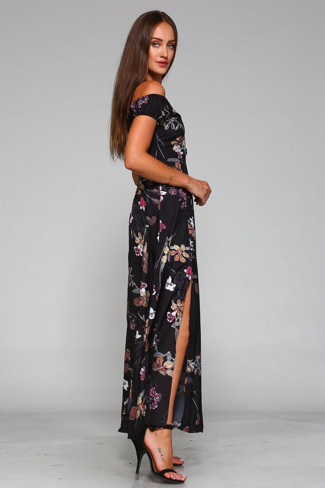 Racine Cut-Out Maxi Dress - Front Full Image