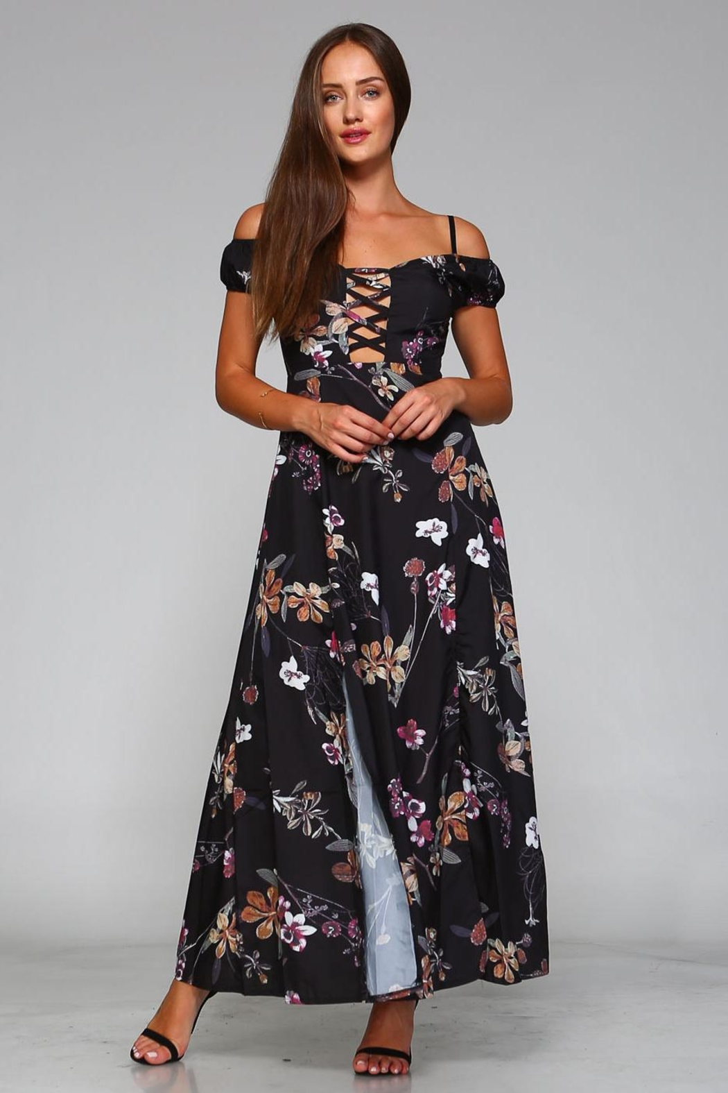 Racine Cut-Out Maxi Dress - Back Cropped Image