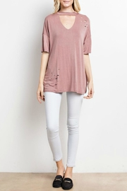 Mittoshop Cut-Out Mock Top - Side cropped
