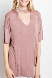 Mittoshop Cut-Out Mock Top - Front full body